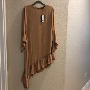 Robin Asymmetric Ruffle Sleeves Dress